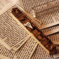 Mezuza and Holy texts. (Photo by Paul CHARBIT/Gamma-Rapho via Getty Images)